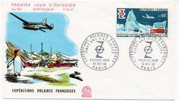 FDC France 1968 - Expéditions Polaires Françaises - YT 1574 - Paris - FDC