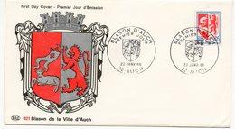 FDC France 1966 - Blason D'Auch - YT 1468 -  32 Auch - FDC