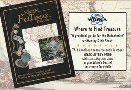 """Book Advertisement """"Where To Find Treasure"""" """"A Practical Guide For The Detectorist"""" By Dick Stout - Advertising"""