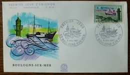 FDC France 1967 - Boulogne Sur Mer -  YT 1499 - 62 Boulogne-sur-Mer - FDC