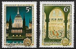 UNGHERIA 1972  ANNIVERSARIIO DELLA COSTITUZIONE UNGHERESE YVERT. 2244-2245 USATA VF - Used Stamps