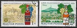 UNGHERIA 1972  CONCORSO INTERNAZIONALE DEL VINO YVERT. 2246-2247 USATA VF - Used Stamps