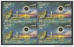 EGS04697 Egypt 2006 Solar Eclipse / 1 Block Of 4 Stamps / MNH - Blocks & Kleinbögen