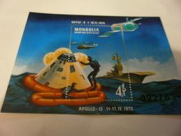 Miniature Sheet 1970 Apollo 13 - Mongolia