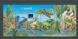 Australia 2000 Bangkok Stamp Exhibition Overprint On Pond Animals Miniature Sheet MNH - 2000-09 Elizabeth II