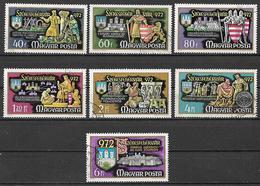 UNGHERIA 1972  FONDAZIONE DELLA VILLA DI SZEKESFEHERVAR YVERT. 2248-2254 USATA VF - Used Stamps