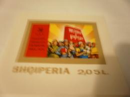 Miniature Sheet 1974 History Of PPSH - Albania