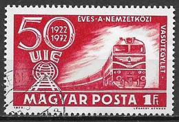 UNGHERIA 1972 UNIONE DELLE FERROVIE YVERT. 2256 USATO - Used Stamps