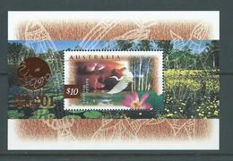 Australia 2001 Philanippon Stamp Exhibition Overprint On 1997 Wetland Fauna Kakadu  $10 Miniature Sheet MNH - Mint Stamps