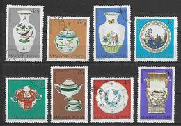 UNGHERIA 1972 VASI DI PORCELLANA YVERT. 2257-2264 USATA VF - Used Stamps