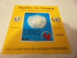 Miniature Sheet International Womans Day Anniversary - Paraguay