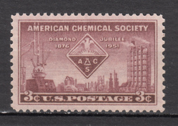 USA, MNH, Chimie, Chemistry, Diamond Jubilee, Pétrochimie, Pétrole, Oil, Petroleum, Aigle, Eagle, Oiseau, Bird, Rapace - Chemistry