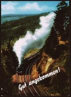 Gut Angekommen!  -  Dampflock  -  Ansichtskarte Ca. 1971    (10805) - Trains