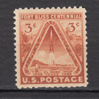 USA, MNH, Fort Bliss Centenial, Rocket, El Paso, Texas, Bombe, Militaria, Bomb - Militaria