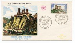 FDC France 1958 Château De Foix YT 1175 - Oblitération Foix - FDC