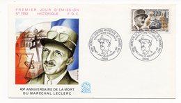 FDC France 1987 - Général Leclerc Maréchal De France - YT 2499 - Paris - FDC
