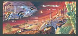 Australia 2001 Hong Kong Exhibition Overprint On 2000 Space Miniature Sheet MNH - 2000-09 Elizabeth II