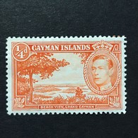 ◆◆◆ Cayman Islands  1938-43  Beach  View, Grand  Cayman  1/4P  NEW  AA3502 - Cayman Islands