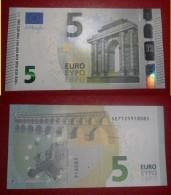 ITALIA ITALY 5 EURO 2013 DRAGHI SERIE SE 7125918085 S002G2 UNC FDS NEW BANKNOTE NUOVA BANCONOTA - 5 Euro