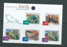 Australia 2001 Desert Birds Self Adhesives Sheet Of 5 MNH - 2000-09 Elizabeth II