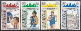 SAMOA, 1992 OLYMPIC GAMES 4 MNH - Samoa