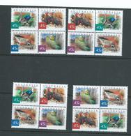 Australia 2001 Desert Birds Setenant Blocks Of 4 - 4 Different Positional Blocks MNH - 2000-09 Elizabeth II