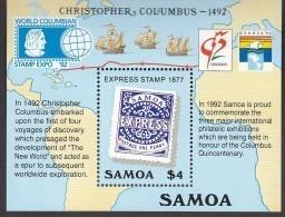 SAMOA, 1992 COLUMBUS MINISHEET MNH - Samoa