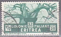 ERITREA     SCOTT NO . 162      USED     YEAR  1934 - Eritrea