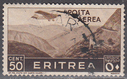 ERITREA     SCOTT NO . C8      USED     YEAR  1936 - Eritrea