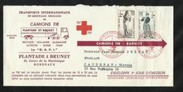 FDC Premier Jour N°1400/01 Croix Rouge Bordeaux 7/12/1963 Sur Pli Circulé Illustré Camions TIR Plantage Et Brunet TB ! ! - Camions