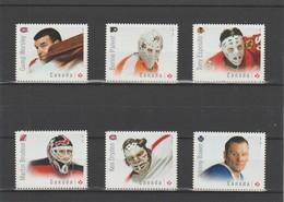 2015 Canada Hockey Great Canadians Goalies Full Set MNH - 1952-.... Reign Of Elizabeth II