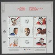 2015 Canada Hockey Great Canadians Goalies Block Of 6 MNH - 1952-.... Reign Of Elizabeth II
