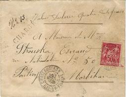 1900- Enveloppe CHARGE  V D 400 F; De Chateaugiron ( Ille Et Vilaine )affr. Sade 50 C N° 98 Seul - Storia Postale