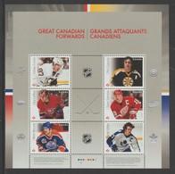 2016 Canada Hockey Great Canadians Forwards Block Of 6 MNH - 1952-.... Reign Of Elizabeth II