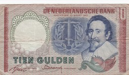 Pays-Bas - Billet De 10 Gulden - Hugo De Groot - 23 Mars 1953 - [2] 1815-… : Koninkrijk Der Verenigde Nederlanden
