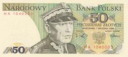 Pologne - Billet De 50 Zlotych - 1er Décembre 1988 - Karol Swierczewski - Neuf - Pologne