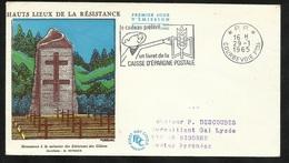"""Lettre Illustrée Circulée  En P.P. Courbevoie Le 29/01/1965 1er Jour De La Flamme  """"le Cadeau Préféré .. Livret De CE TB - Maschinenstempel (Werbestempel)"""