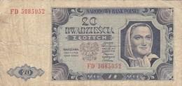 Pologne - Billet De 20 Zlotych - 1er Juillet 1948 - Pologne