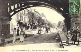 Publicité Agence Guy Hoquet L'Immobilier (Collection) - Chelles Sous Le Pont De Chemin De Fer, Réédition - Advertising