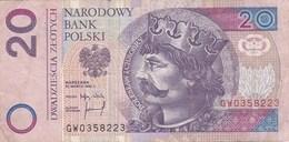 Pologne - Billet De 20 Zlotych - Boleslaw I Chrobry - 25 Mars 1994 - Pologne