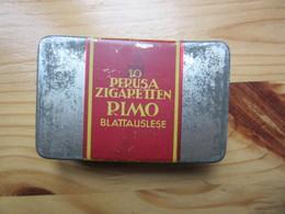 Old Metal Tin Box Cigarettes Germany  10 Perusa Zigaretten RIMO - Porta Sigarette (vuoti)