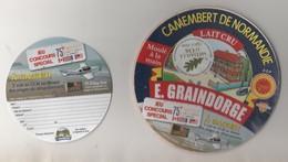 ETIQUETTE FROMAGE CAMEMBERT GRAINDORGE - FROMAGERIE DE LIVAROT  - 75EME ANNIVERSAIRE D DAY, BATAILLE DE NORMANDIE, - Cheese