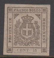 Modena S 14 1859 Arms 15c Mint Hinged - Modena