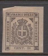 Modena S 16 1859 Arms 20c Lilac Grey, Mint Hinged - Modena