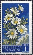 San Marino 1956 - Mi 567 - YT 427 ( Flowers : Daisies ) MNG - Saint-Marin