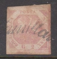 Naples S 3 1858 Coat Of Arms 2gr Pale Lake, Used - Napoli