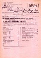 Catalogue ATLAS 1958 La Voie Idéale Pour L'Amateur ! HO 16,50 Mm - Livres Et Magazines