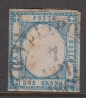 Naples S 20 1861 King Victor Emmanuel II 2 Gr Blue,rust Spots, Used - Naples