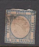 Naples S 20 1861 King Victor Emmanuel II 2 Gr Blues, Used - Naples