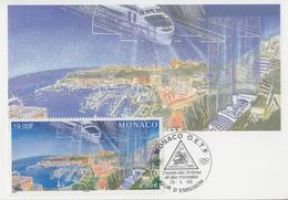 Carte Maximum  1er  Jour  MONACO    Vue  De  La  Principauté   1999 - Maximum Cards